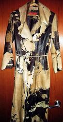 Продаю женское кожаное пальто(б/у)